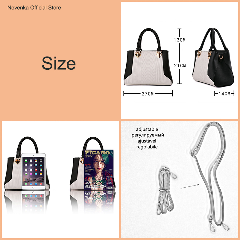 Nevenka Women Handbag PU Leather Bag Zipper Crossbody Bags Lady Bag High Quality Original Design Handbags Top-Handle Bags Tote01