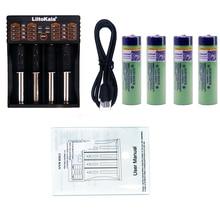 4pcs Liitokala 3 7V 3400mAh 18650 Li ion Rechargeable Battery NO PCB Lii 402 USB 26650