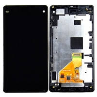 High Quality LCD Screen and Digitizer Full Assembly Lcd Replacement Glass with Frame For Sony Xperia Z1 Compact