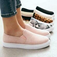 WENYUJH/парусиновая обувь с леопардовым принтом; сезон весна-осень; обувь с низким вырезом; женская обувь из Вулканизированной Ткани; нескользящие женские кроссовки на резиновой подошве