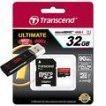 Transcend высокоскоростной Micro sd карта 600X32 ГБ 16 ГБ MicroSDHC Памяти карта 90 МБ/С. Class10 UHS-I карты памяти С USB 3.0 Card reader