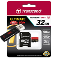 Transcend High speed Micro sd card 600X 32gb 16gb MicroSDHC Memory Card 90MB/S Class10 UHS-I tf card With USB 3.0 Card reader