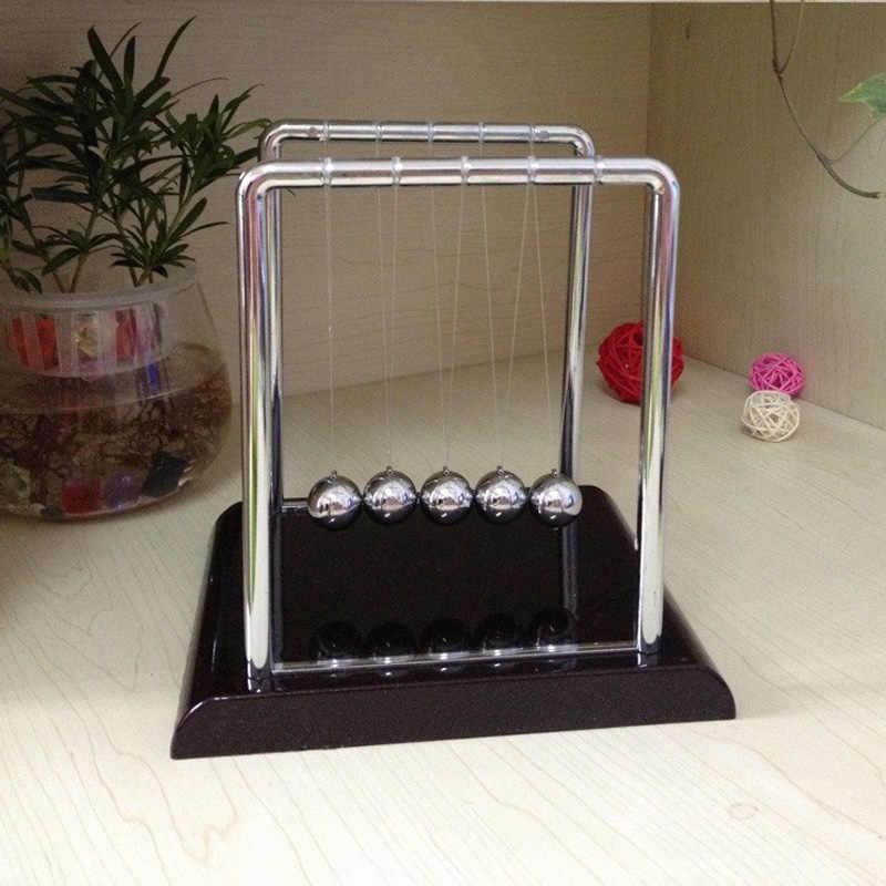 في وقت مبكر متعة التنمية التعليمية مكتب لعبة هدية Newtons مهد الصلب التوازن الكرة الفيزياء العلوم البندول الكلاسيكية مكتب لعبة