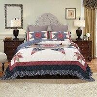 CHAUSUB хлопковое лоскутное покрывало Стёганое одеяло комплект 3 шт. качество Стёганое одеяло s Стёганое одеяло ed покрывало листов одеяло Shams