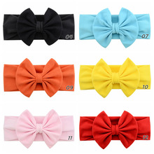 Baby Headdress Bow Hair Clip Solid Color Trendy Style Handmade Girls Gift Polyester Ribbon Children Baby Bow Hair Clip 907 bow style wig decorative hair clip golden l