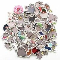 TD ZW 100 Pcs/lot Cartoon Katze Aufkleber Für Snowboard Laptop Gepäck Auto Kühlschrank Auto-Styling Vinyl Aufkleber wohnkultur Aufkleber