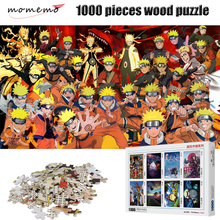 MOMEMO Naruto Uzumaki 1000 Pieces Puzzle High Definition Cartoon Anime NARUTO Wooden Puzzles Toys for Childen