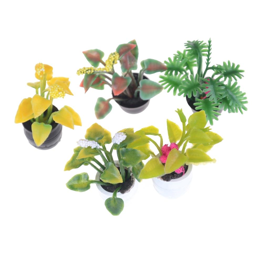 1:12 Miniatura green plant dollhouse decoration furniture DIY accessories  BH