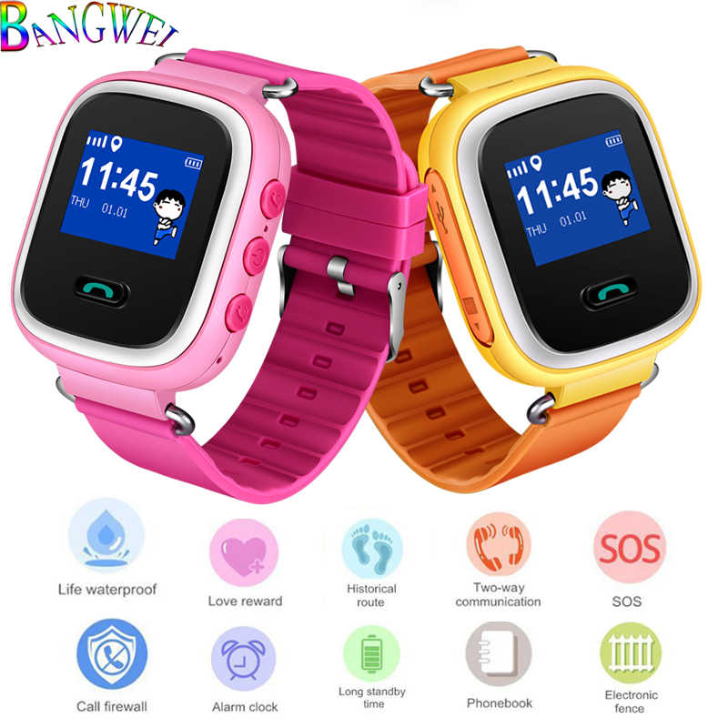 BANGWEI new GPS mobile phone monitoring positioning fashion children's watch 1 inch color screen SOS child safety smart watch