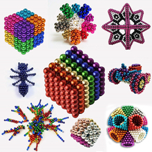 New 216Pcs Super DIY Assemble Magnet Blocks 3mm Magnetic balls toys Creative Neodymium Magnets magneticas Cube Puzzle Funny Toys