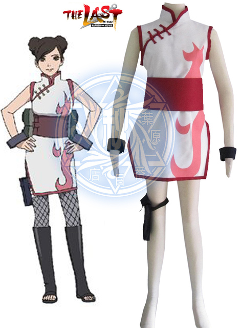 Naruto Tenten The movie The last Cheongsam Cosplay Costume Free Shipping