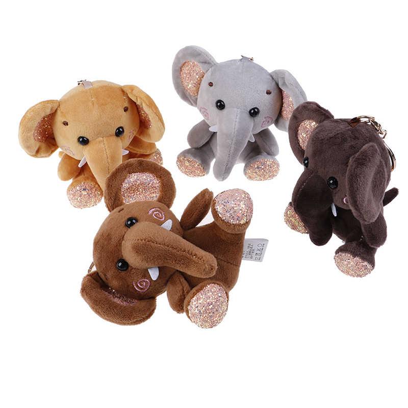 10cm יפה סופר חמוד דמבו ממולא בעלי חיים בפלאש צעצוע קטן תליון מיני קריקטורה פיל בובת מציג לילדים מפתח שרשרת