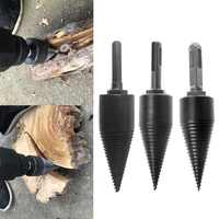 1PC 130x32mm Firewood Machine Drill Wood Cone Reamer Punch Driver Drill Bit Split Drilling Tools