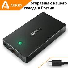 Aukey 20000 мАч портативный банк силы, внешний мобильный аккумулятор зарядное устройство с двумя usb для iphone, таблетки powerbank