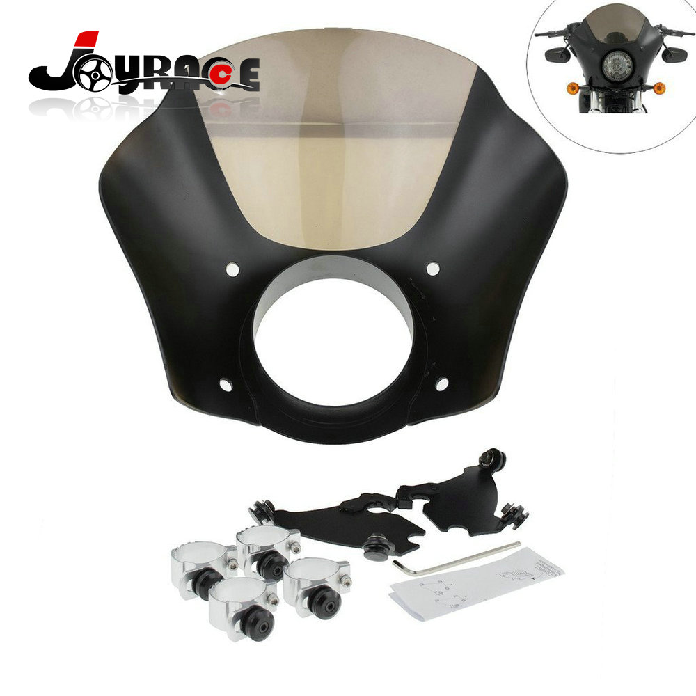 41mm 49mm Front Gauntlet Headlight Fairing W/Trigger Lock Mount Kit For Harley XL 1200 883 Dyna Models promotion 6pcs crib bumper for baby cot sets baby bedding set curtain baby bed bumper include bumpers sheet pillow cover