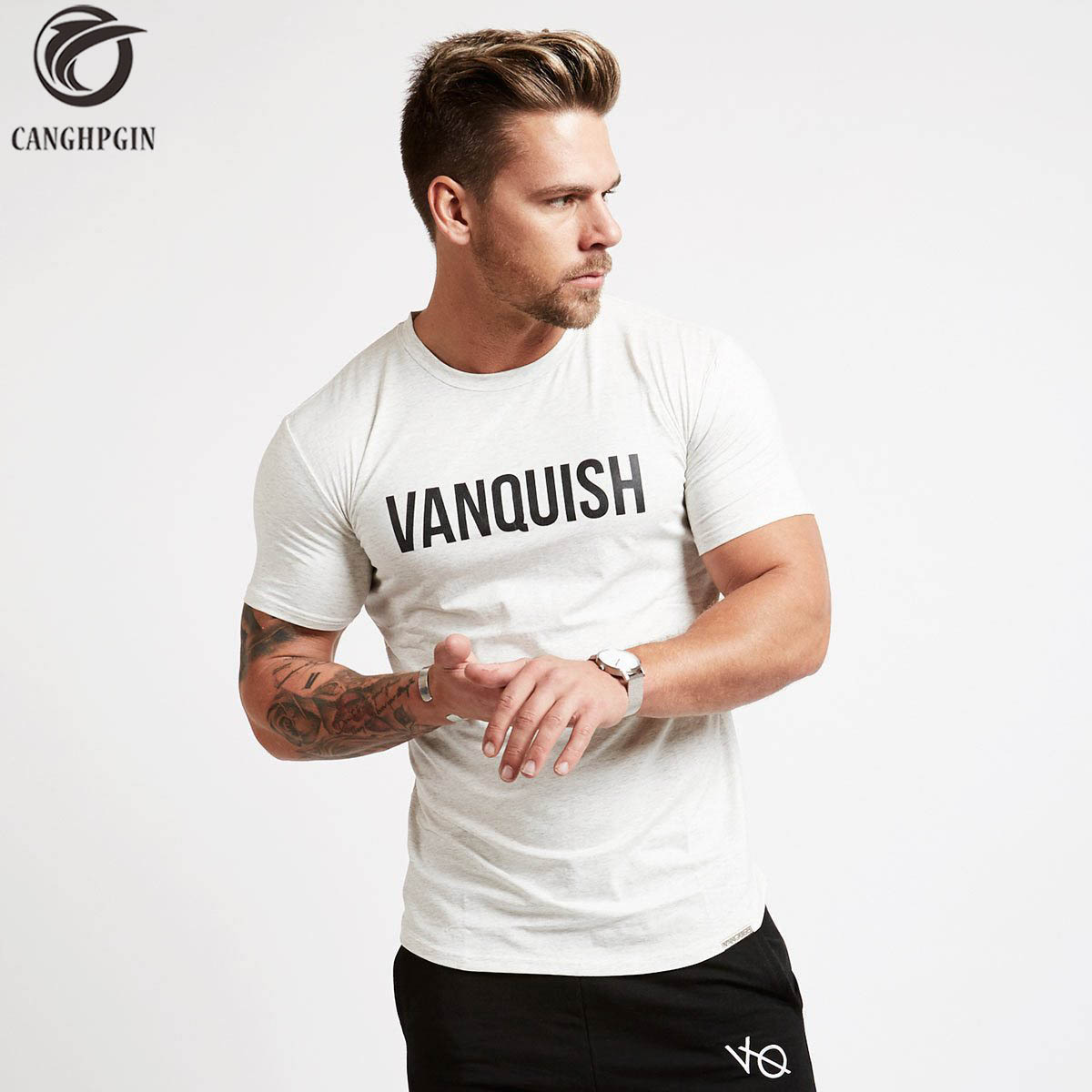 Summer Compression Fitness Tights Running Shirt Men Short sleeve T-Shirt Gym Breathable Quick Dry Stretch Tops Cotton T shirt