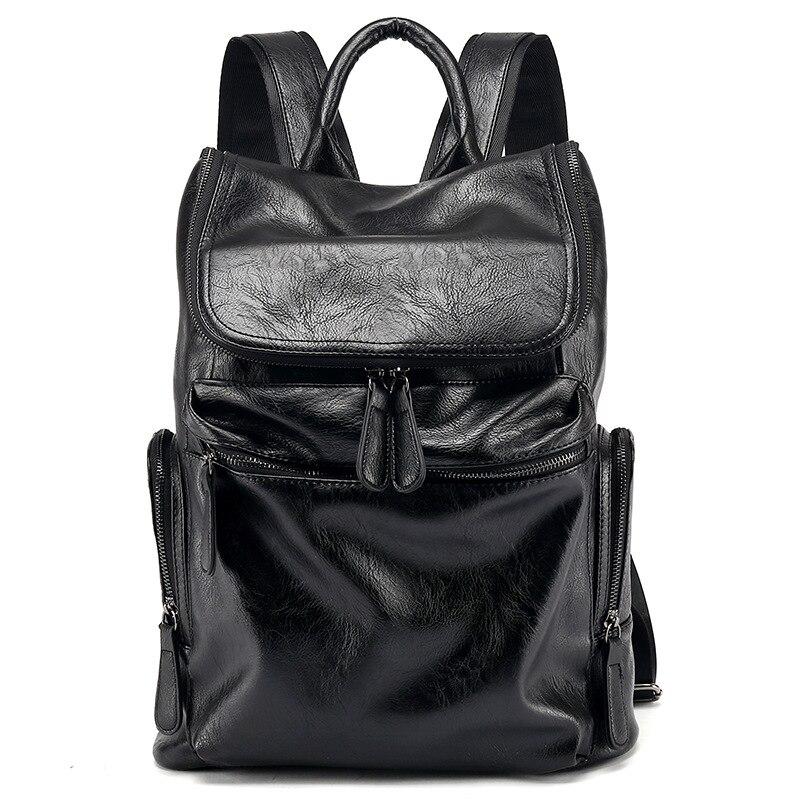 Amaise nouvelle arrivée noir hommes de luxe designer sac Coréen sac à dos noir GET0054