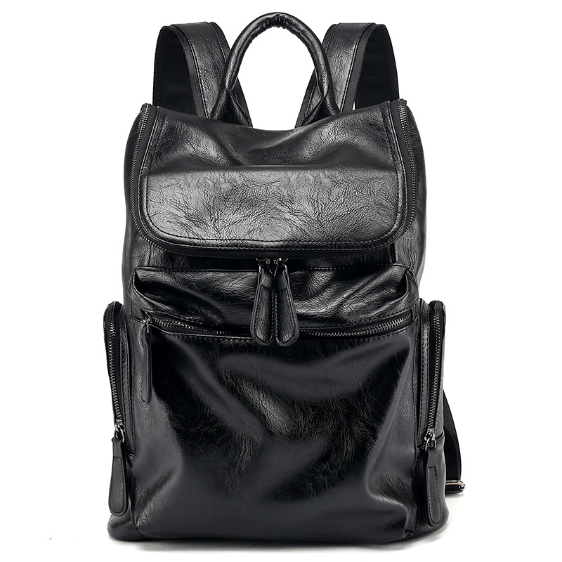 Amaise nuovo arrivo nero degli uomini di lusso del sacchetto del progettista Coreano zaino nero GET0054