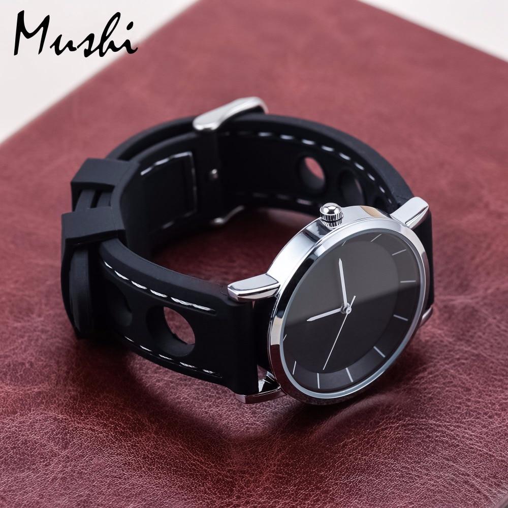 MS Silicone WatchBand Black Taucheruhrenarmband aus Gummi mit - Uhrenzubehör - Foto 5