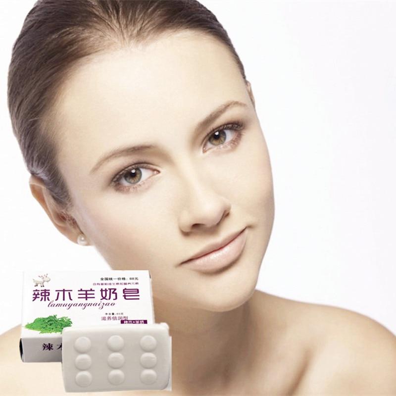Promotion 1Pcs Glutathione Goats' Milk Whitening Soap Anti Aging Wrinkle Moisturizing Blackhead Remover Handmade Soap 1Pcs