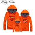 Spring & Autumn  Family Fitted New Hot Sale  Family Matching Clothes superman Sport Hoodies Family Look Clothing lyw-30815