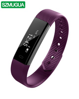 SZMUGUA 5Pcs Wholesale Smart Bracelet Fitness Tracker Step Activity Monitor Band Sleep Tracker Wristband for iPhone Android