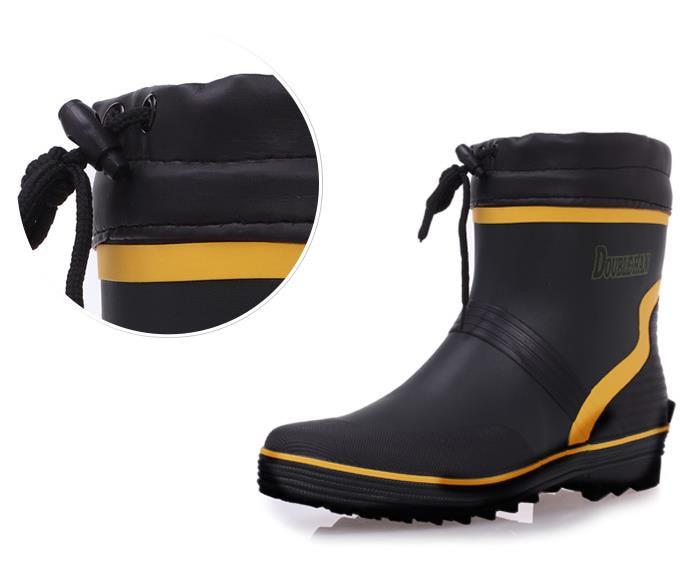 Quality fishing rubber waterproof boots fashion brand rain boots wellies Wellington for man цена 2017