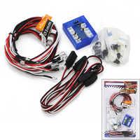 RC Car lighting RC12 12LED Flashing lighting Light Wire System 2 PPM FM FS 2.4G kit BRAKE + HEADLIGHT + SIGNAL