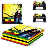 Songs Of Freedom Bob Marley Design Sticker For PS4 Console Cover For Sony Playstaion 4 Console