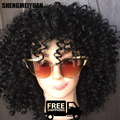 2016 Newest Medium Long afro Kinky Curly wig Synthetic wig for Black Women  Top Quality Synthetic Hair Wigs