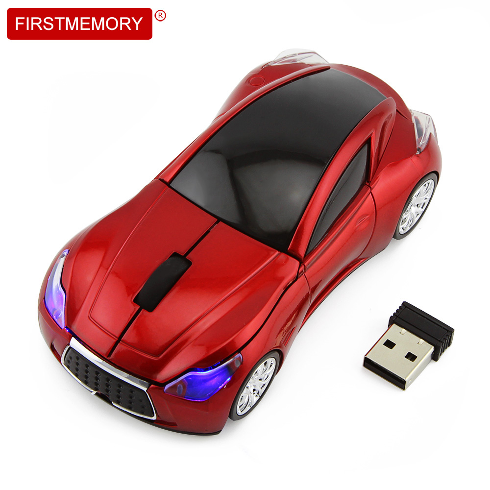 Wireless Hot Sale Sport Car Shaped Mouse Supercar Wireless Mice Led Optical Gaming Computer Mini Mouse For PC Laptop Desktop ...