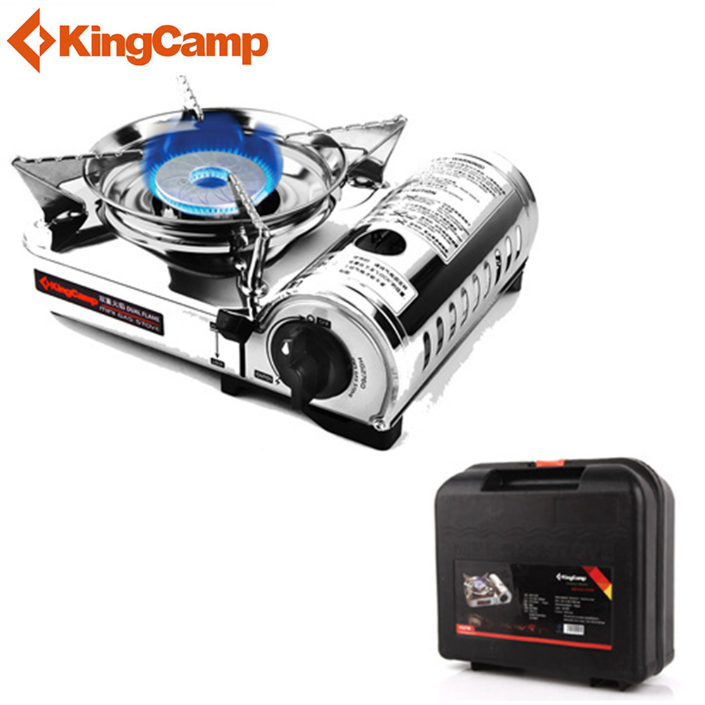 KingCamp Portable Outdoor Gas Stove Picnic Stove Camping Stove Mini Cooker Furnace Stainless Steel outdoor portable ultra mini stainless steel gas stove with a case