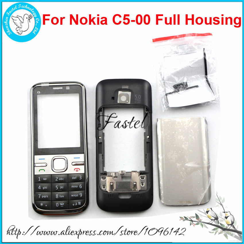 For <font><b>Nokia</b></font> <font><b>C5</b></font> <font><b>C5</b></font>-00 Brandnew High Quality Full Complete Mobile Phone <font><b>Housing</b></font> Cover Case+English/Russian/Arabic Keypad+Tools image