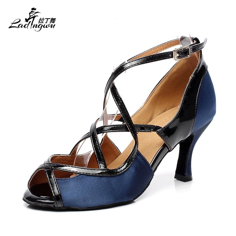 Ballroom Dance Shoes Women's Satin PU Party Latin Dance Shoes Salsa Tango High Heels 6cm / 7.5cm / 8.5cm / 10cm 6180 the new diamond women adult shoes latin dance shoes satin tango ballroom dance shoes high heels