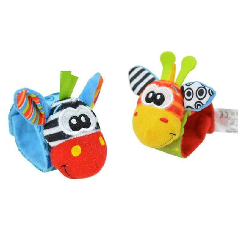 Baby Rattles Soft Plush Toy Wrist Band Watch Band Bed Bells/Baby Hand Bells/Infant Appease Toys/Newbron Gift