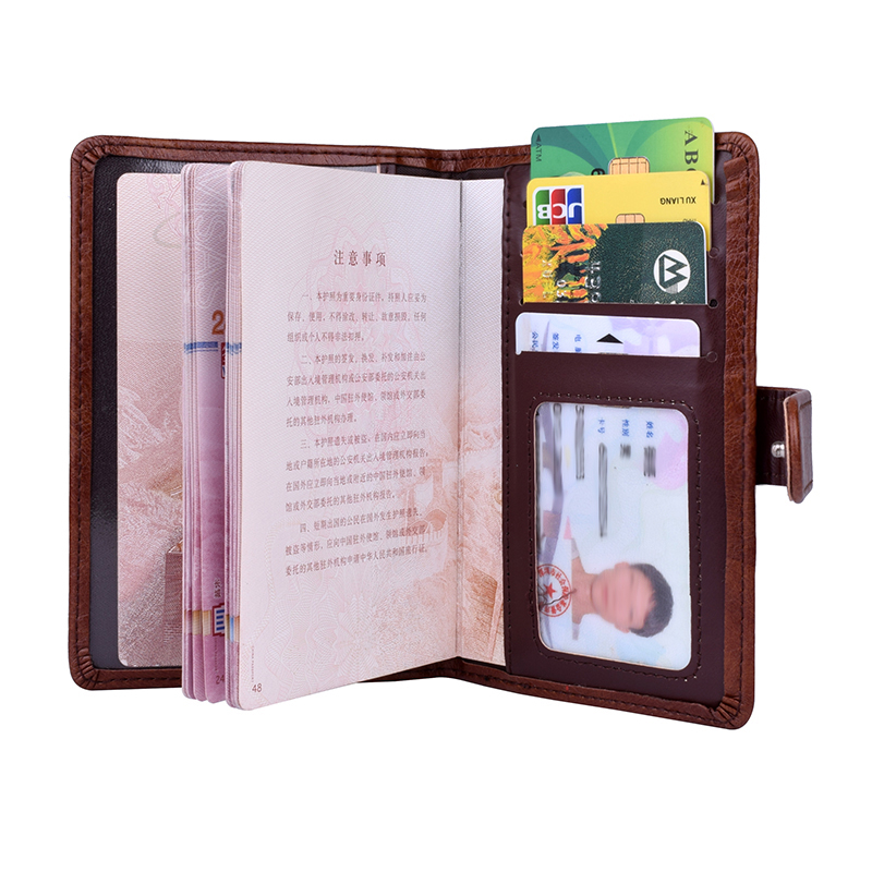 PU Leather Hasp Wallet Travel Passport Holder Protector Covers Passports Organizer Holder Card Credit Case 4