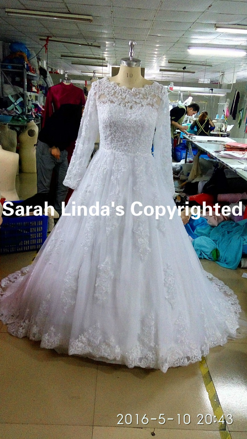 Winter 2015 free shipping ball gown white lace appliques beads ...