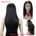 8A 360 Lace Frontal Closure Brazilian Virgin Hair With Frontal 360 Frontal Brazilian Virgin Straight Lace Frontal with Baby Hair