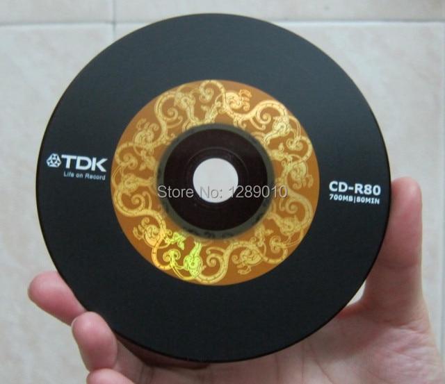 Wholesale 10discs/lot High Quality A+ Blank Discs TDK CD R Black CD