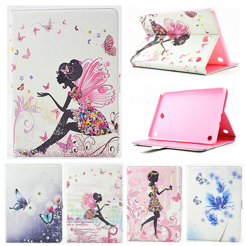 For Samsung Galaxy tab A 8.0 T350 T355 SM-T355 8'' Case Girl Bling Butterfly PU Leather Book Stand Protective Tablet Cover samsung samsung galaxy tab a 8 0 sm t355 16gb