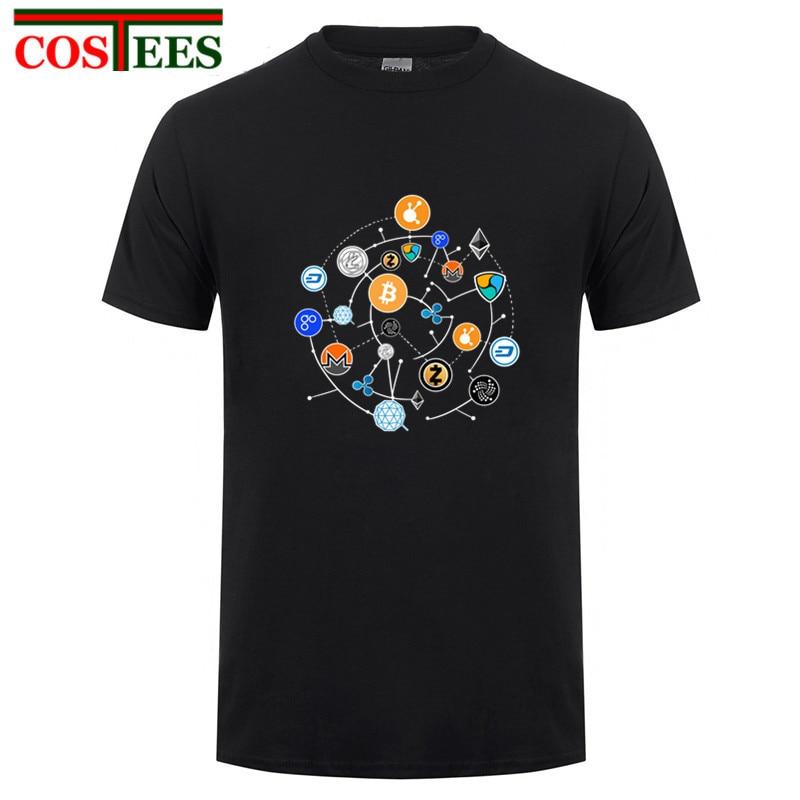 Blockchain Cryptocurrency Bitcoin Ripple Peercoin Qura Factom T Shirt Men Peercoin Monero Litecoin Ethereum Crypto Techno tshirt