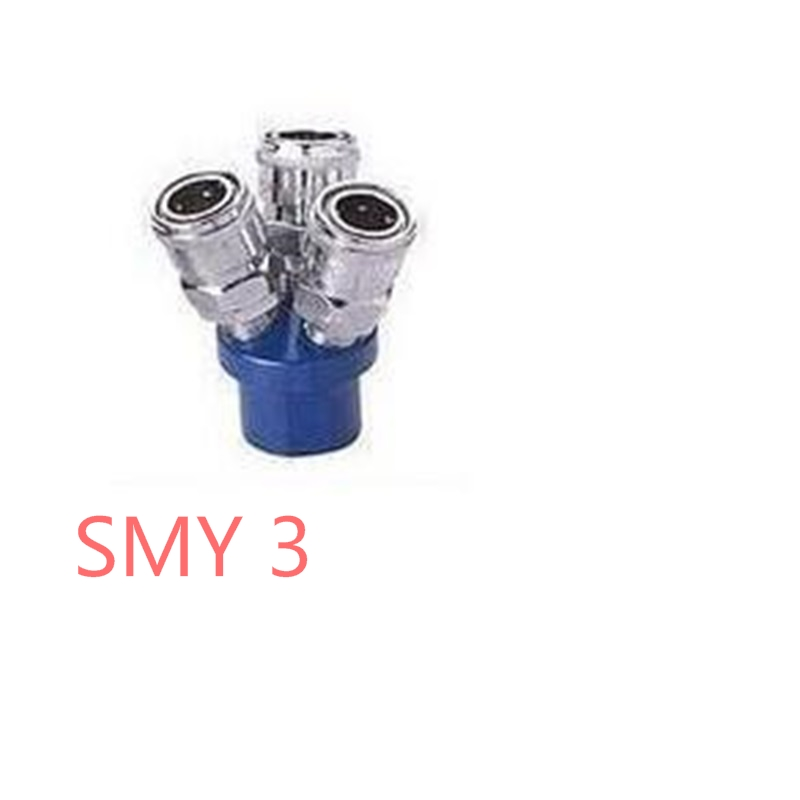 1PcsC-type quick connector multi-pipe gas rowSMY 3 inserted trigeminal / air distributor pipe joints Interface 1/4 epman universal 3 aluminium air filter turbo intake intercooler piping cold pipe ep af1022 af