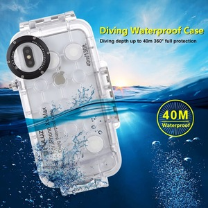 Image 4 - PULUZ for iPhone XS Max / XR Diving Case 40m/130ft Waterproof Housing Photo Taking Underwater Snorkeling Cover for iPhone X/ XS