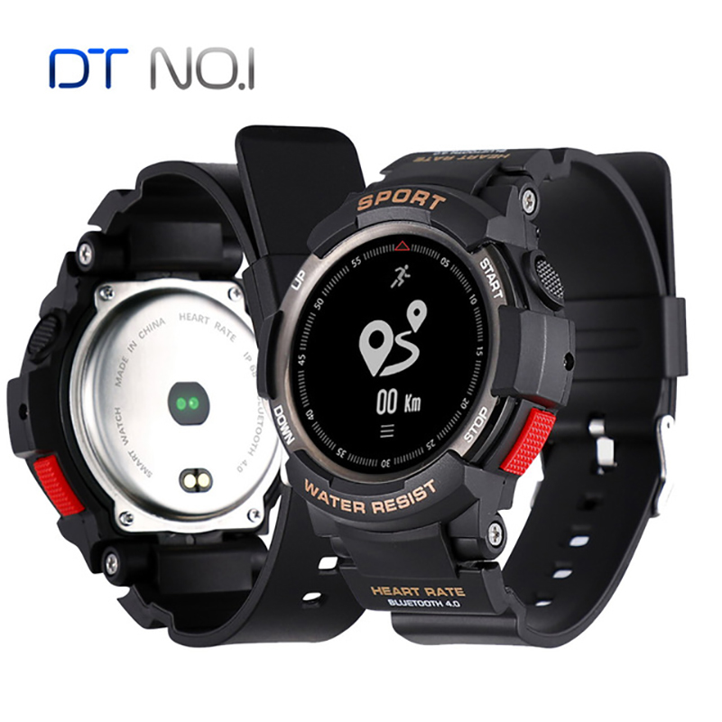 No.1 F6 Smartwatch IP68 Waterproof Bluetooth Heart Rate Monitor Remote Camera Watch Outdoor Sports Smartwatch For IOS Android цена