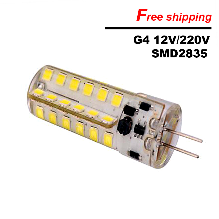 On Sale G4 LED lamp 220V 12V 5W LED Bulb 48Leds SMD2835 360 angle Silicone spotlight for home lighting replace 30W halogen lamps