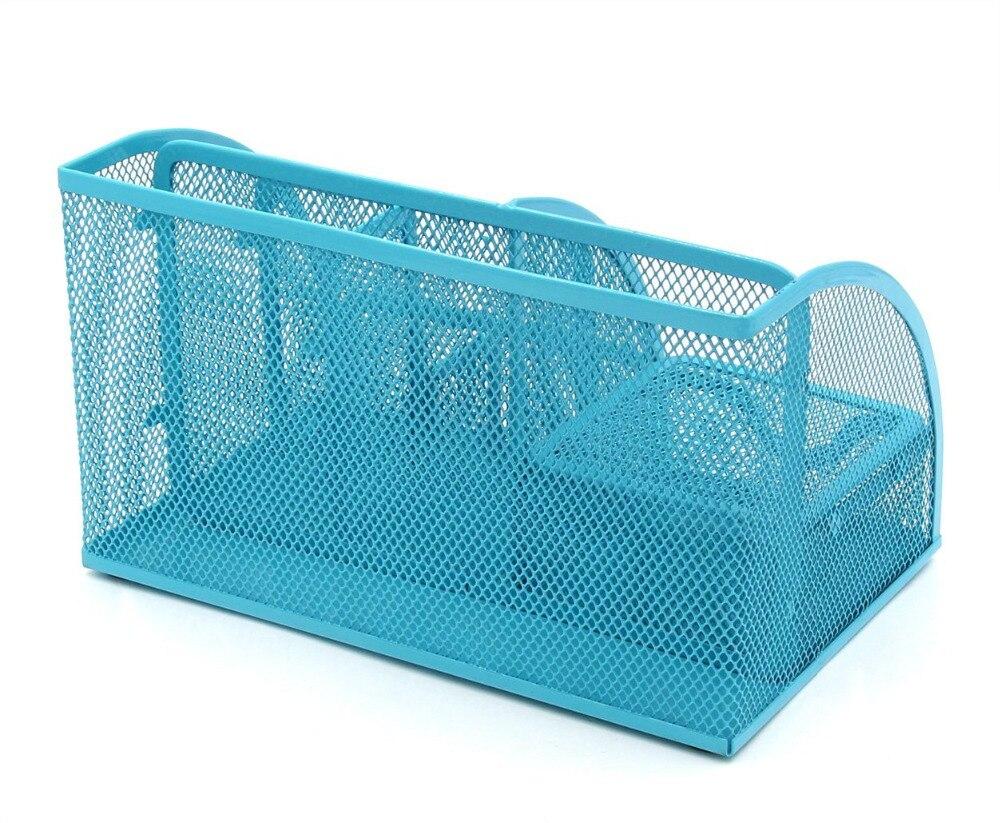 Bro Liefert Netz Schreibtisch Organizer Desktop Stifthalter Zubehr Storage Keranjang Multifungsi Box Caddy Mit Schublade 7 Fcher Blau In