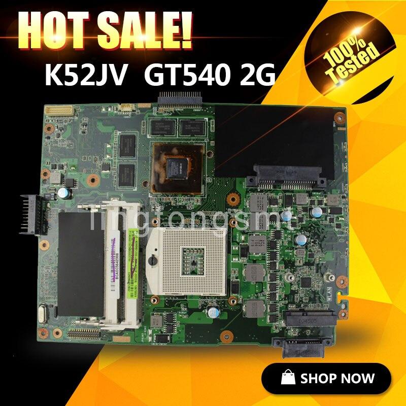 for ASUS K52JV Motherboard K52JV REV2.2 Mainboard GT 540M 2GB HM55 Chipset 100% Tested free shipping original laptop motherboard for asus k52jv mainboard rev 2 2 nvidia gt540m 2gb