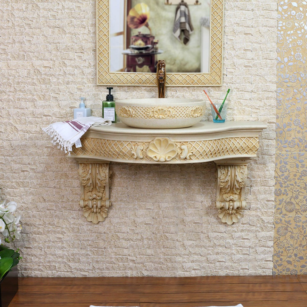 european style bathroom seashells hanging wall surfaces of carve patterns or designs on woodwork art