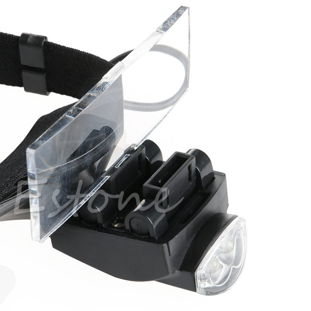 5Lens LED Light Lamp Loop Head Headband Magnifier Magnifying Glass Loupe 1 3 5X Apr in Magnifiers from Tools