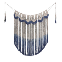 Macrame Hand Knitted Tapestry Bohemian Colored Tassel Wall Art Outdoor Home Wedding Decorative Door Curtain